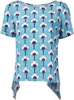 Dondup draped back T-shirt - women - Silk - 44