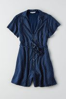 American Eagle Outfitters AE Button Short Sleeve Romper