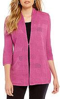 Misook Solid Textured Jacket
