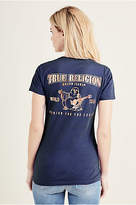 True Religion Metallic Slim V Neck Womens Tee