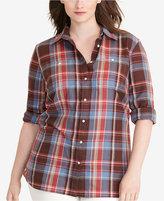 Lauren Ralph Lauren Plus Size Plaid Twill Shirt