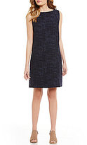 Eileen Fisher Bateau Neck Shift Sleeveless Dress