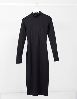 NA-KD cut-out back long-sleeved midi bodycon dress