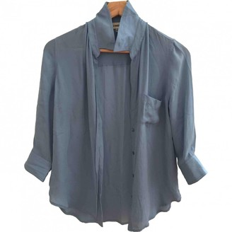 L'Agence Blue Silk Top for Women