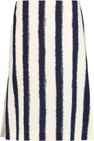 Marni Striped cotton skirt