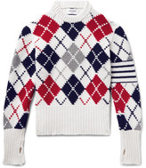 Thom Browne Argyle Cashmere Sweater - White