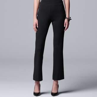 Vera Wang Petite Simply Vera Pull-on Ponte Bootcut Pants