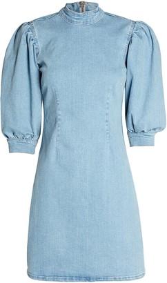 Ganni Cult Denim Mini Dress