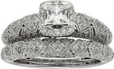 JCPenney MODERN BRIDE 1 CT. T. W. Certified Diamond Princess-Cut Art Deco Bridal Ring Set
