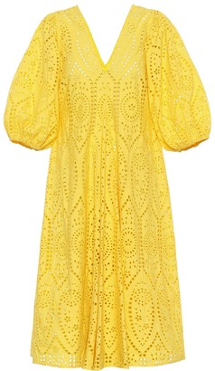 Ganni Exclusive to Mytheresa Cotton broderie anglaise dress