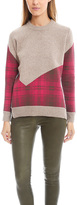 Thakoon Plaid Combo Crew Sweater