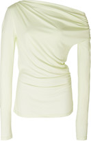 Harmon Acler Cold-Shoulder Draped Stretch-Modal Top