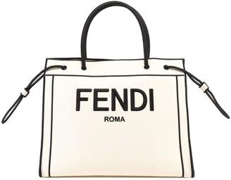 Fendi Medium Logo Roma Shopper Bag