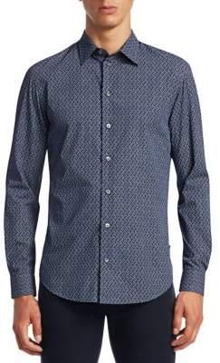 Emporio Armani Multi-Print Button-Down Shirt