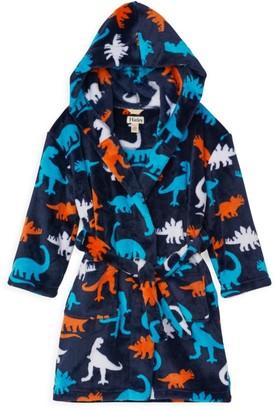 Hatley Little Boy's & Boy's Dinosaur-Print Robe