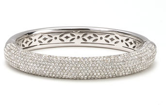 Nadri 'Micro' Medium Pavé Crystal Bangle
