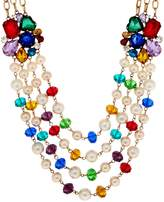 Linea By Louis Dell'olio by Louis Dell'Olio Crystal Bead Cluster Necklace