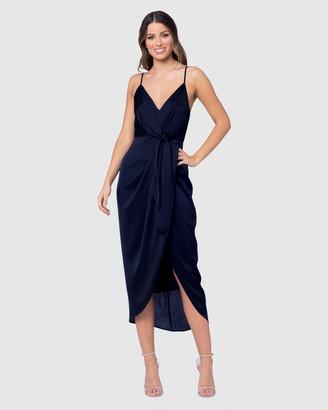 Pilgrim Women's Navy Midi Dresses - Pilipa Midi Dress - Size One Size, 8 at The Iconic