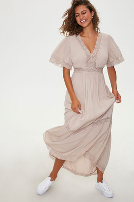 Forever 21 Lace-Trim Maxi Dress