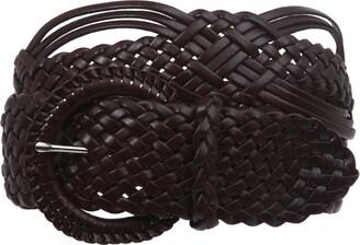 "Beltiscool 2"" (50 mm) Genuine Leather Braided Woven Belt"