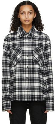 Off-White Black Flannel Allover Check Arrows Shirt