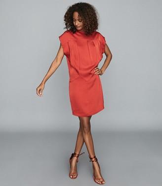 Reiss TARA DRAPE DETAIL MINI DRESS Red