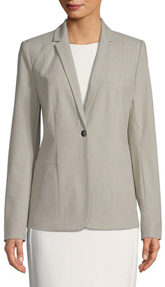 Tahari Asl Queena Single Button Blazer