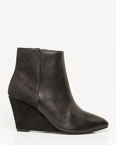 Le Château Leather & Suede Wedge Ankle Boot
