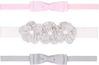 Fruit of the Loom Baby Girl 3-Pack Bow Headwraps