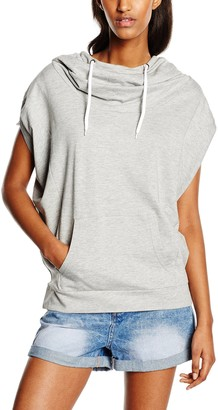 Urban Classics Women's Ladies Sleeveless Terry High Neck Hoody Sweater