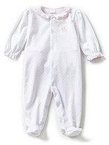 Edgehill Collection Baby Girls Newborn-6 Months Giraffe Footed Coveralls