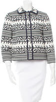 Tory Burch Patterned Collared Jacket