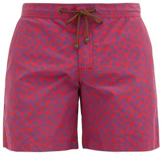 Charvet X Thorsun - Square-print Swim Shorts - Red