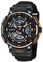 Calypso Men's Quartz Watch with LCD Dial Analogue Digital Display and Black Plastic Strap K5673/1