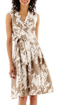 Jessica Howard Sleeveless Faux-Wrap Shirtdress