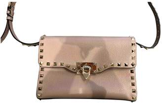 Valentino Rockstud Beige Leather Clutch bags