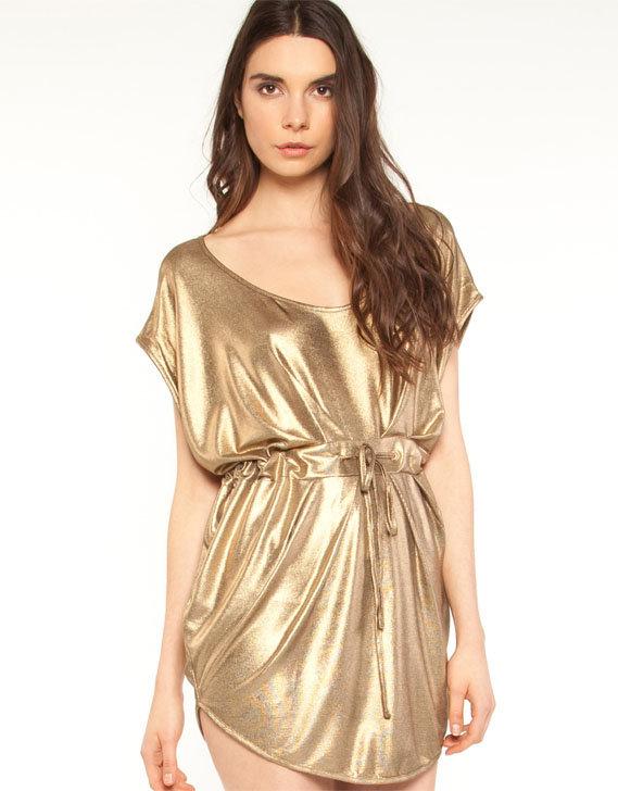 Staple the Label Metallic Slinky Draw Dress