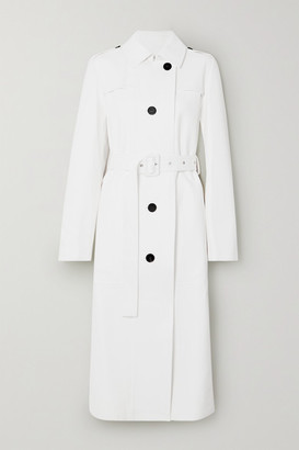 Jil Sander Leather Trench Coat - White