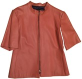 Loewe Pink Leather Leather Jacket for Women Vintage