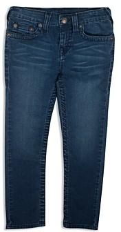 True Religion Boys' Geno Slim Straight French Terry Jeans - Little Kid, Big Kid