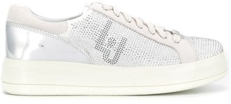 Liu Jo Embellished Metallic Sneakers