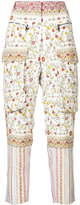 No.21 floral cargo trousers - women - Silk - 38