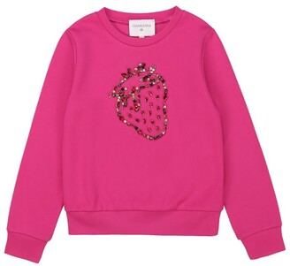 Charabia Embellished Strawberry Sweatshirt (3-14 Years)