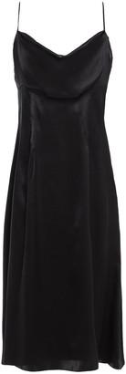 Versace Draped Silk-satin Midi Dress
