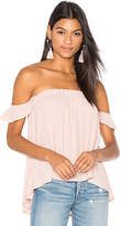 Blq Basiq Off Shoulder Top in Blush. - size 0 (XS/S) (also in 1(M/L))