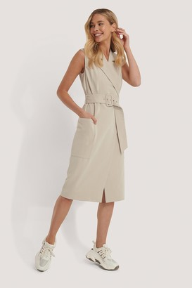 NA-KD Belted Sleeveless Blazer Dress