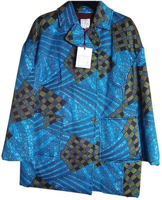 Stella Jean Blue Cotton Coat for Women