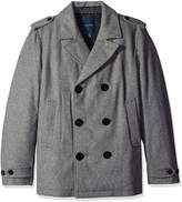 Nautica Men's Double Breasted Wool Blend Peacoat