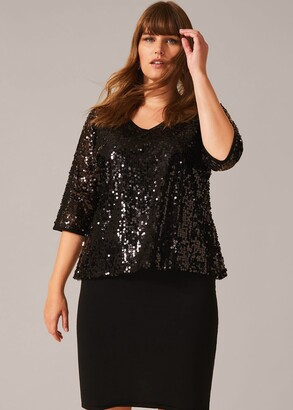 Phase Eight Lottie Sequin Knit Dress