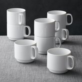 Crate & Barrel Set of 8 Logan Stacking Mugs